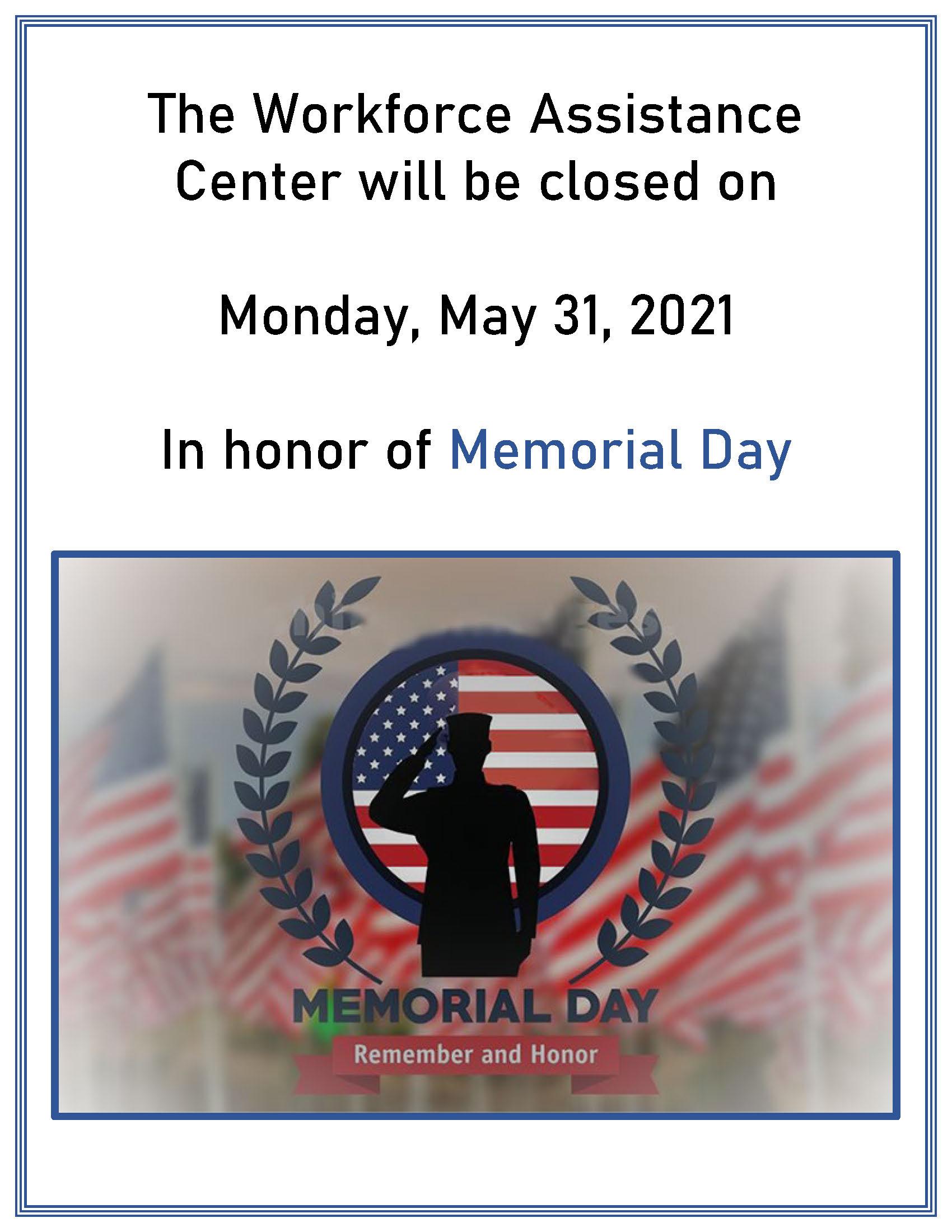 Memorial Day 2021 Flyer